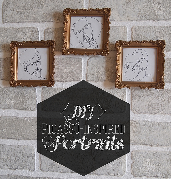 DIY Wall Art: Picasso-Inspired Portraits
