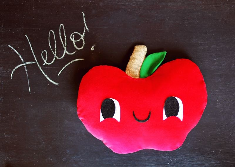 DIY apple pillow