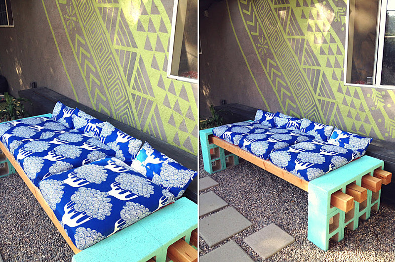 DIY cinder block bench The 10 Best Summer DIY Projects