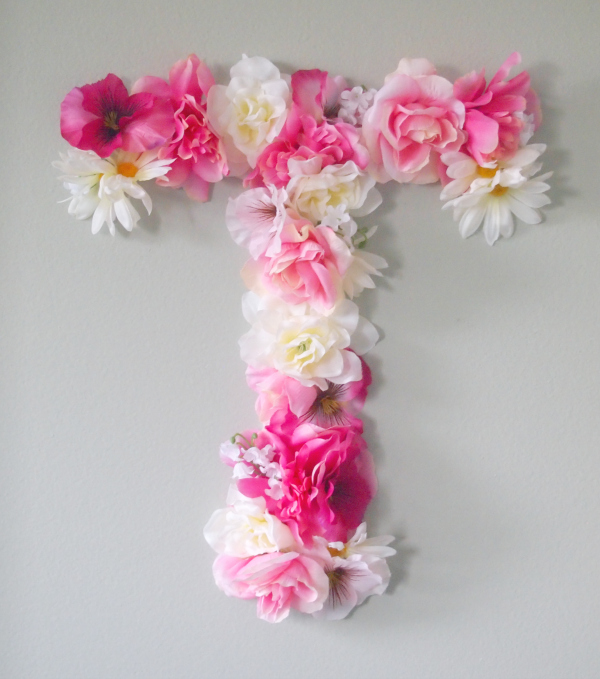 Diy faux flower monogram for Letter n decorations