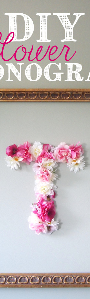DIY Flower Monogram Ideas