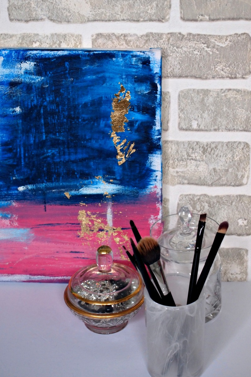 Decorate your home workstation of the fireplace mantle with abstract art