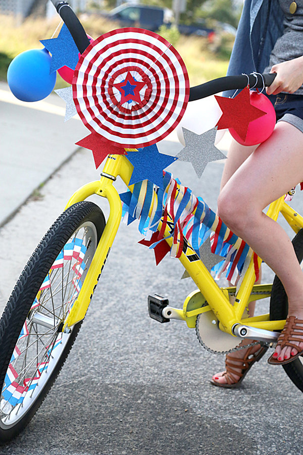 Decorated 4th of July bicycle