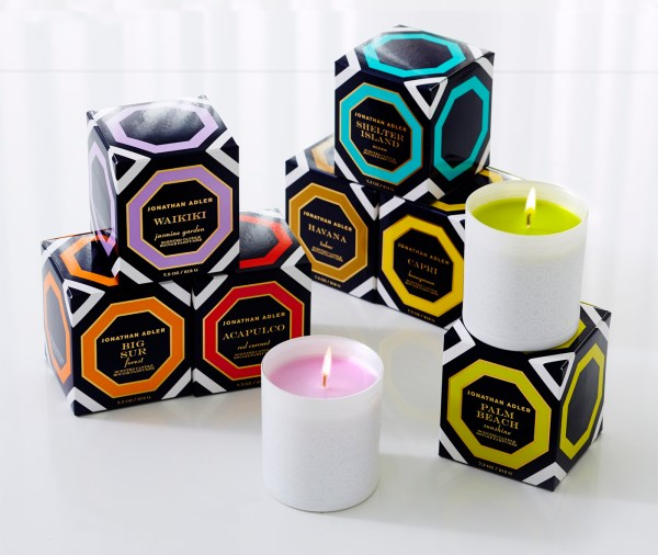 Designer candles from Jonathan Adler
