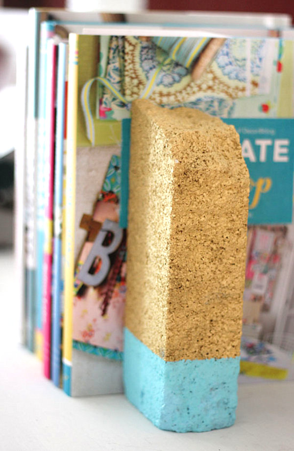 Dipped brick bookend project