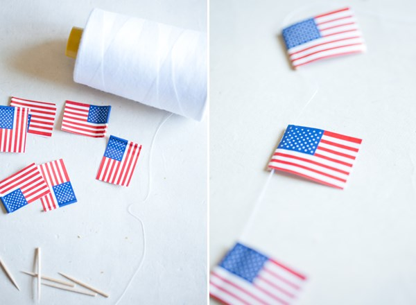 Easy flag garland