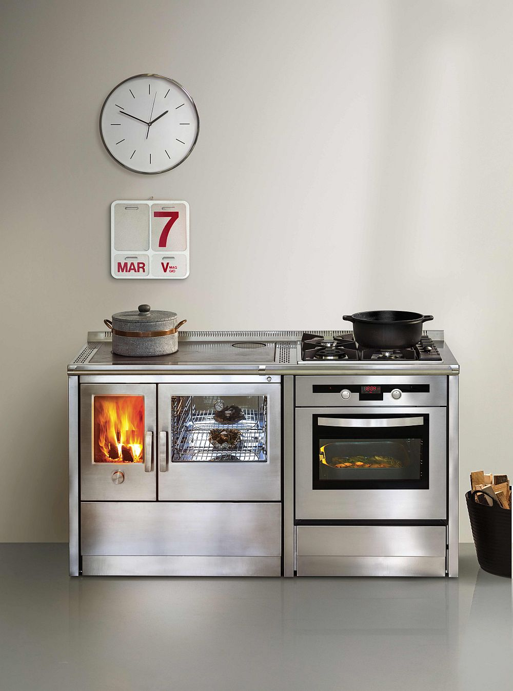 Elegant and exclusive series of wood-burning cookers from J.Corradi