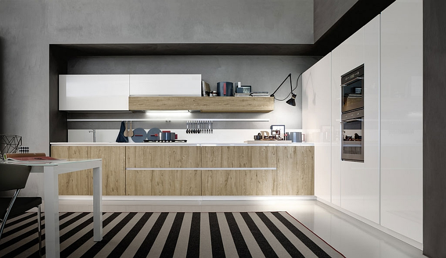 Elegant and minimal design of Magika Deft Storage Solutions Shape Efficient Kitchen For The Trendy Urban Home