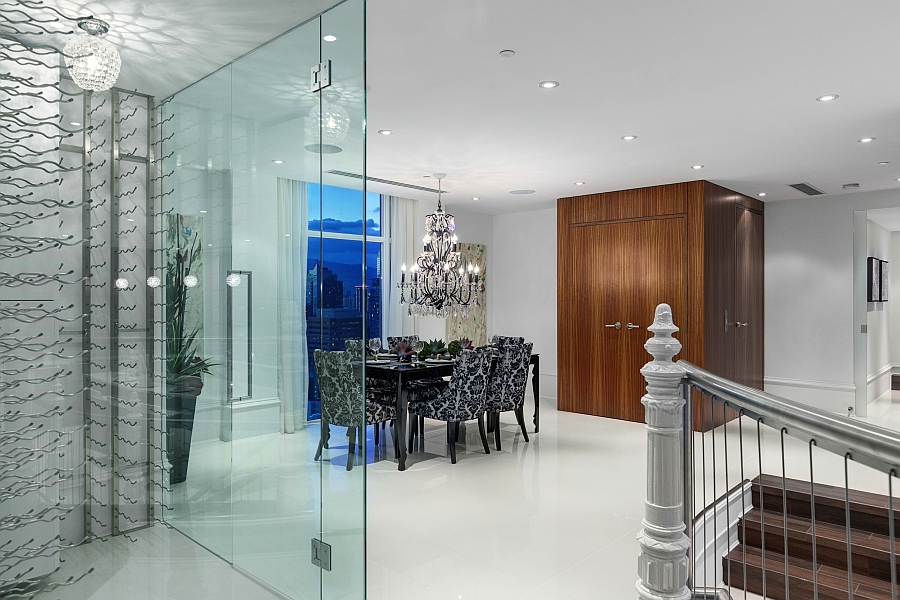 Elegant dining space with lovely lighting