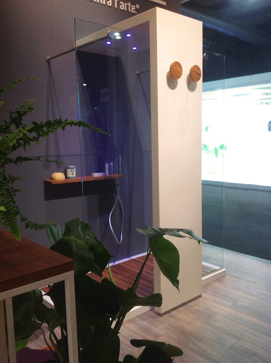 Elegant shower on display at the Milan Design Week