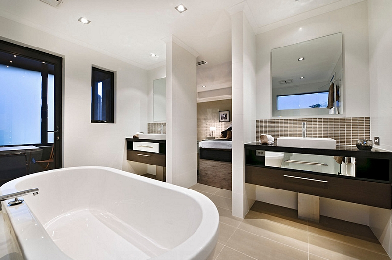 En-suite master bath combines luxury with a sense of serenity