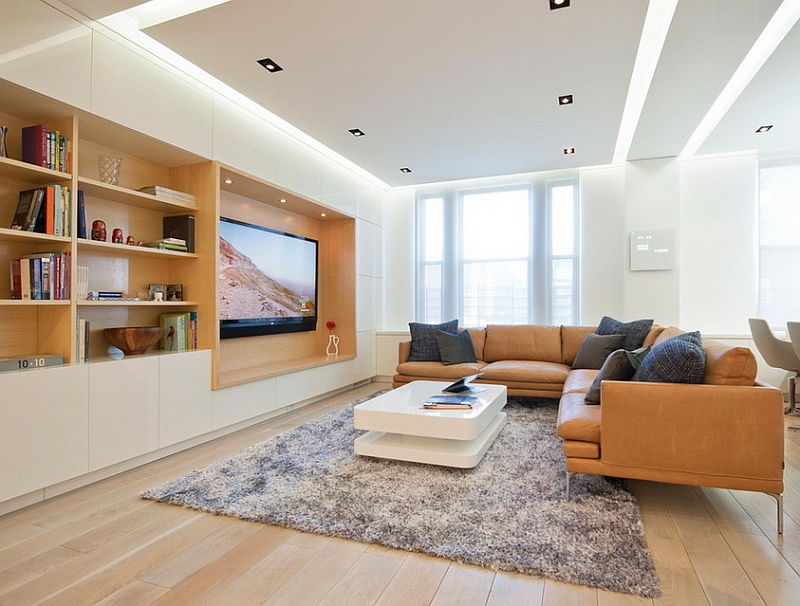 View In Gallery Evenly Lit Living Room With Warm Wooden Accents And Plush  Decor Part 84