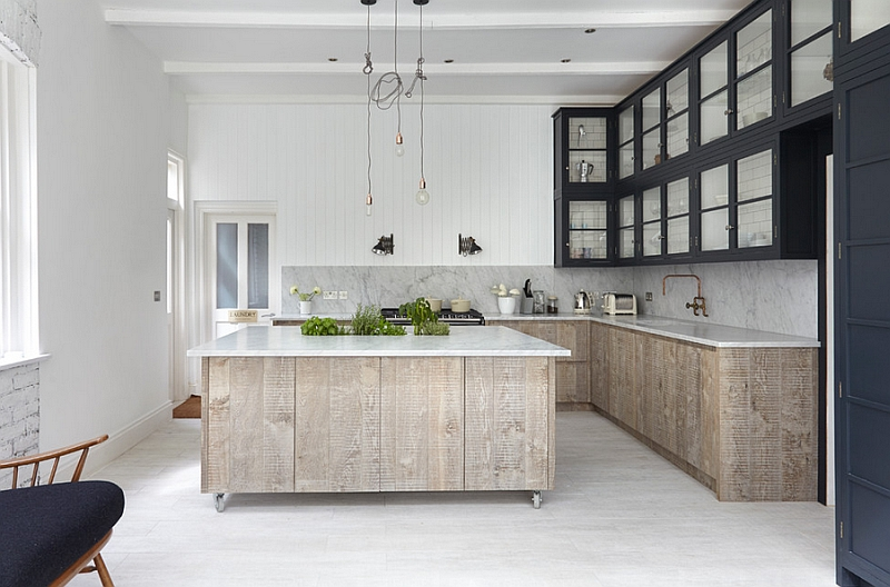 Exceptional industrial chic kitchen in neutral hues
