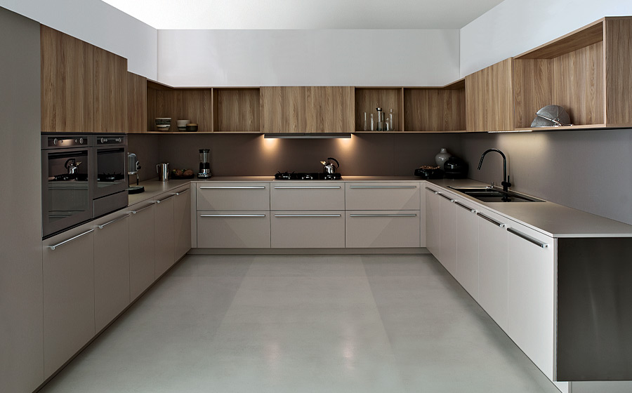 Exclusive contemporary kitchen from Elmar makes complete use of the vertical space on offer