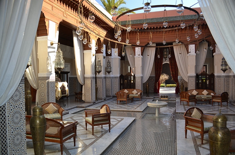 Expansive Moroccan courtyard offers inspiration for the modern patio