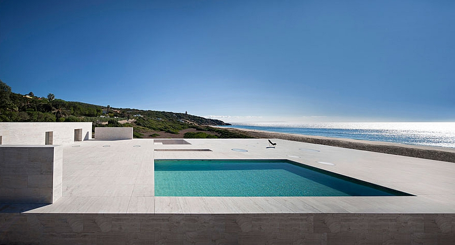 Expansive rooftop pool and deck space steals the show