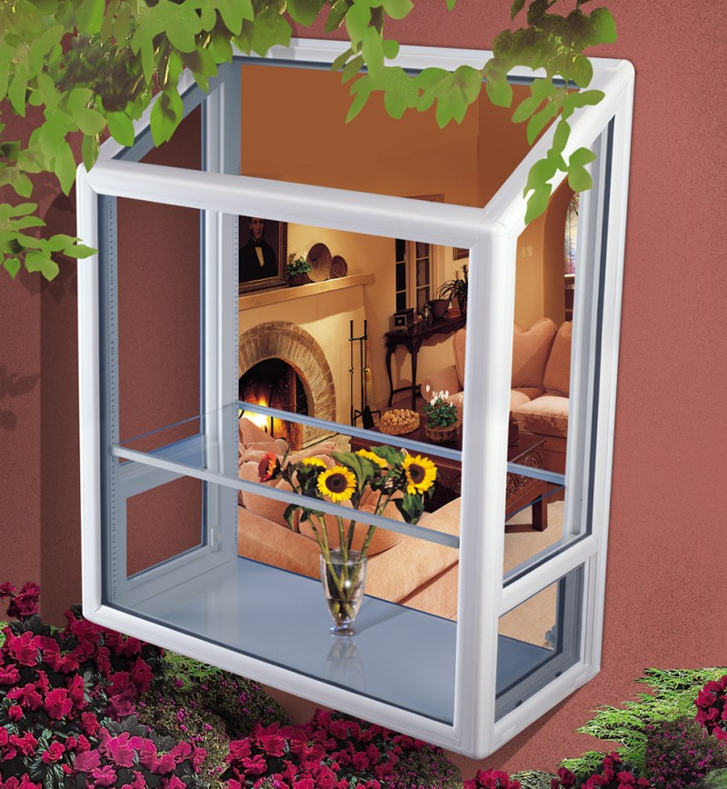 Exterior view of a picture window How To Style A Garden Window