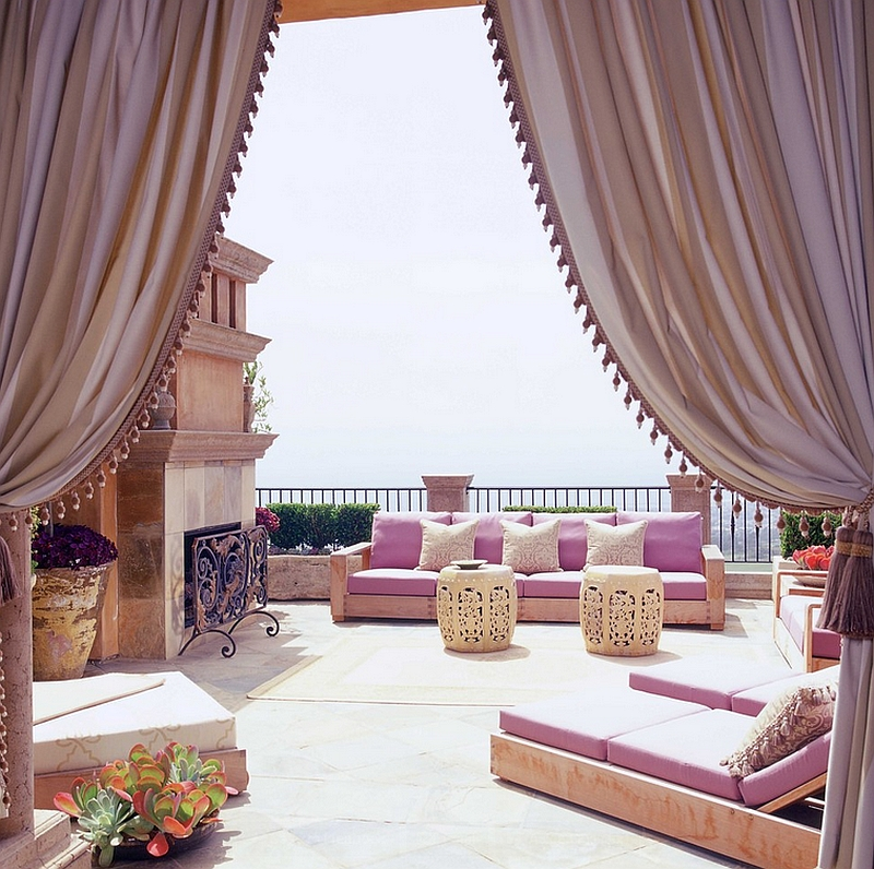 Fabulous Moroccan porch exudes elegance and opulence