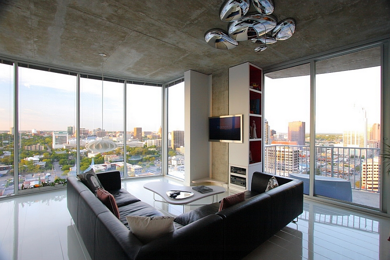 Fabulous modern living with the Nelson pendant and the Shiny Skydro from Artemide