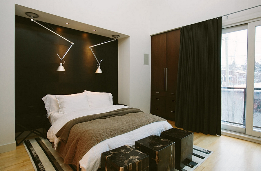 Flexible sconce lighting is a smart addition in the small bedroom