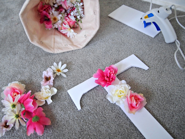 Creating the Faux Flower Monogram – DIY Project