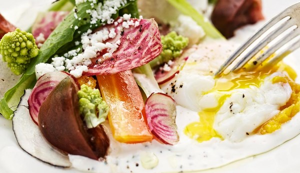 Fresh, colorful brunch food from La Condesa