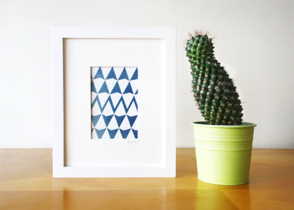Geo triangle artwork from Etsy shop HuzzArtShop