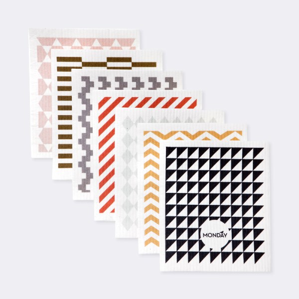 Geometric dish cloths for every day of the week