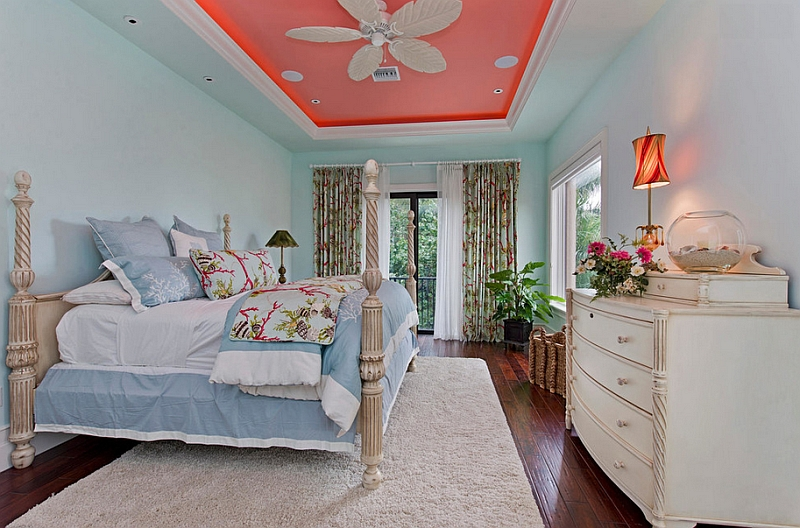 Give your ceiling a fresh makeover with luminous coral