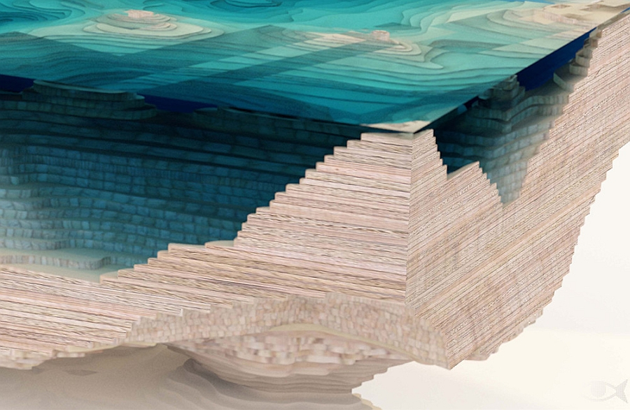 Give your living room a coffee table inspired by the ocean