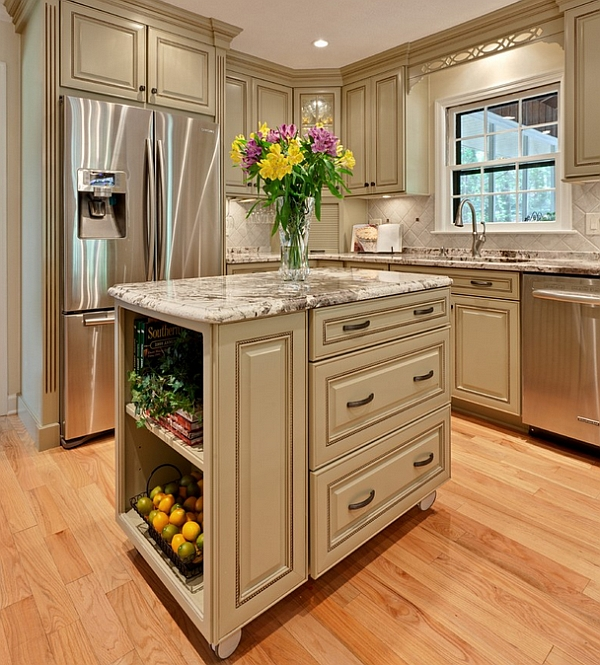 View In Gallery Give Your Traditional Kitchen Island A Modern Mobile Makeover