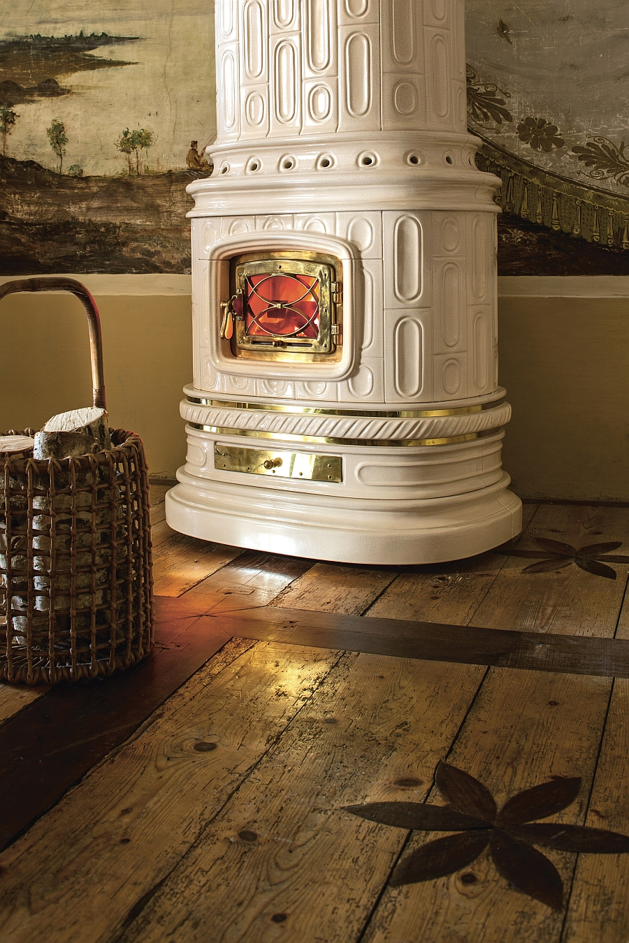 Give your wood-burning hetaing system an antique finish