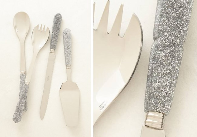 Glittering serving pieces