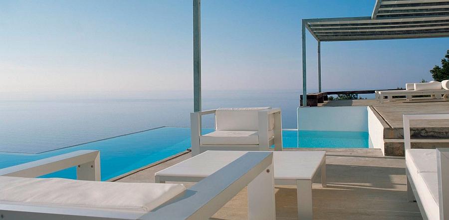 Goregous outdoor lounge of Na Xemena in Ibiza