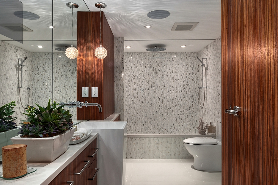 Gorgeous bathroom offers spa-like luxury right at home!