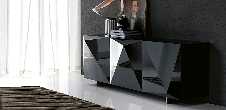 Gorgeous lacquered finish of the stylish sideboard