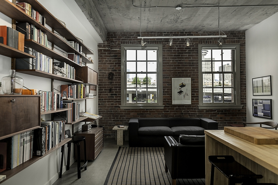 Historic loft brings together rich heritage and Industrial home plans