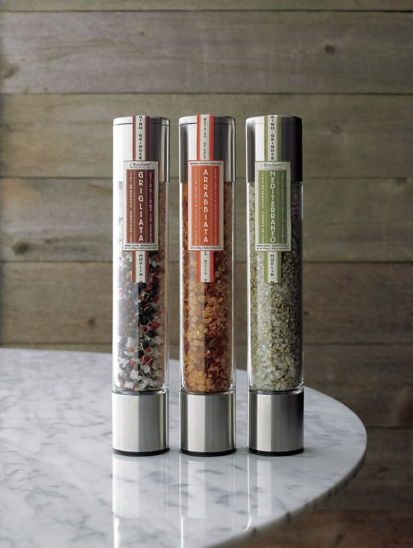 Gourmet salt grinders from Crate & Barrel