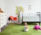 Green FLOR carpet design squares