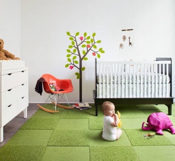 View In Gallery Green FLOR Carpet Design Squares FLOR Carpet Tiles Bring  Modular Flooring Home