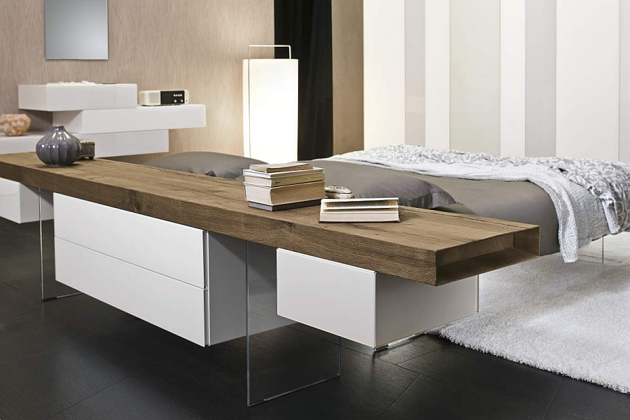 Headboards and sideboards that add to the appeal of the unqiue bed