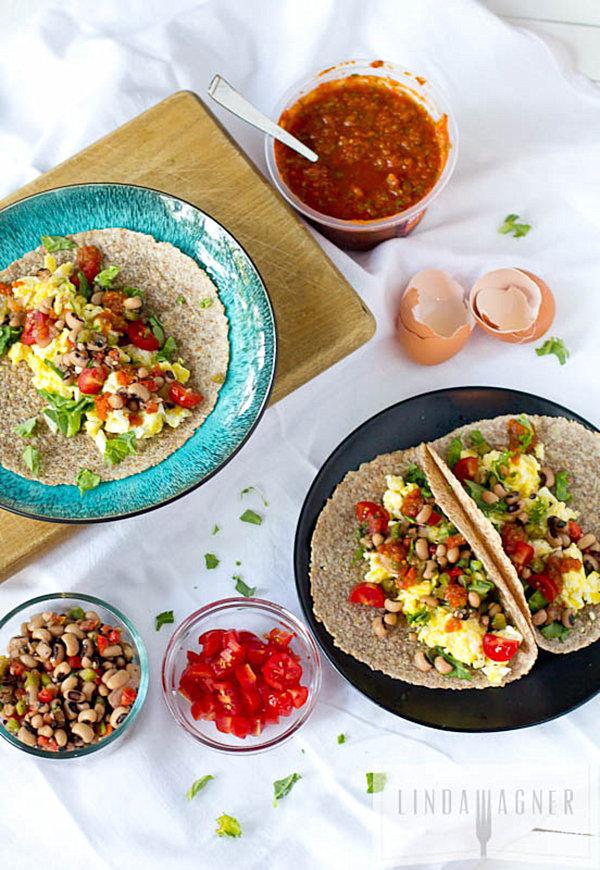 Healthy Southwestern breakfast taco recipe