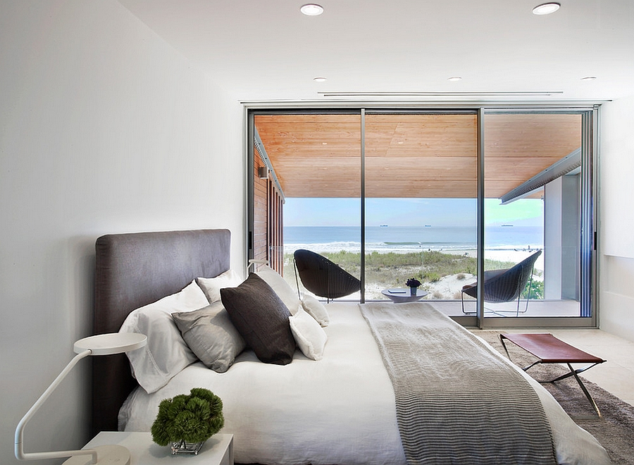 View In Gallery Hint Of Leather Brings Elegance To The Amazing Bedroom With  Ocean View