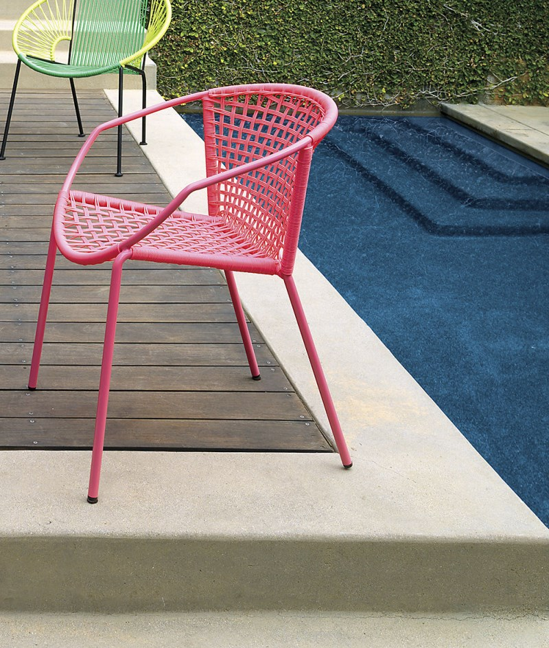 Hot pink dining chair