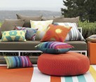 Indoor outdoor throw pillows