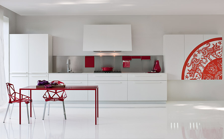 Innovative design of the Playground kitchen brings together contemporary style and bold color