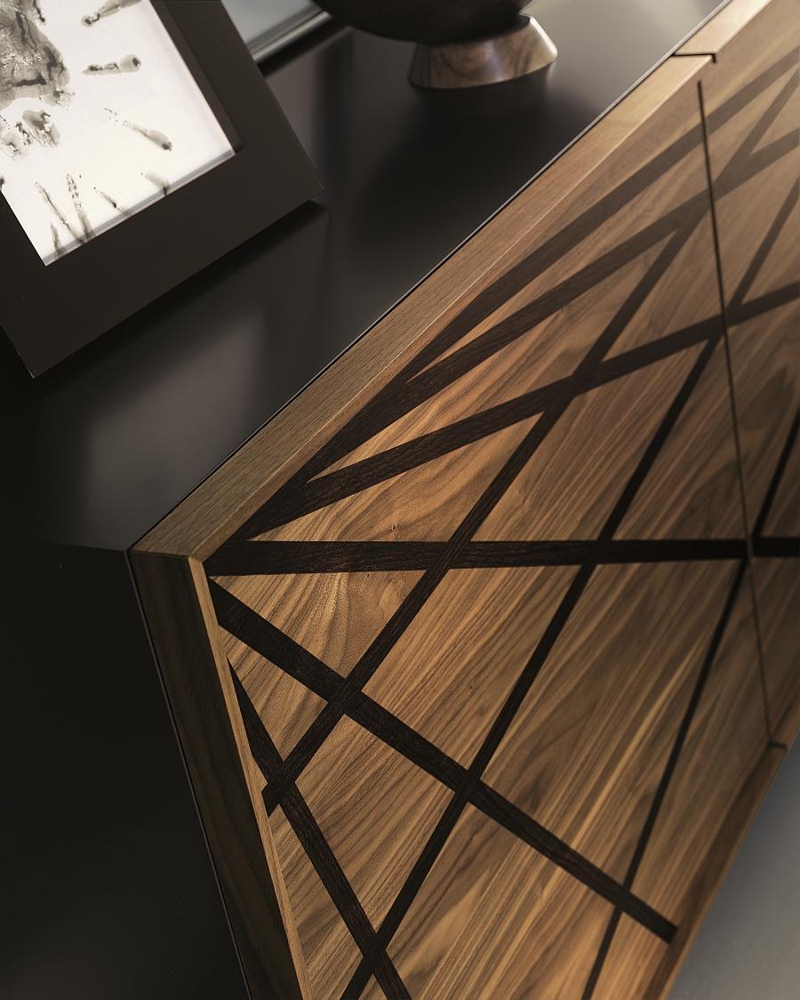Intricate design of the cool Italian sideboard