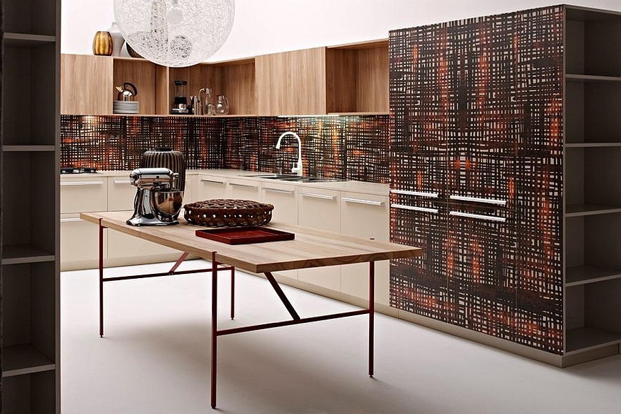 Inventive modern kitchen compositions with trendy Italian style