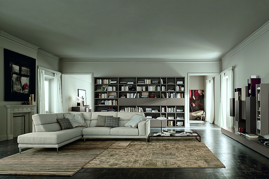 Karl model sofa with Menir fabric adds to the sophistication of the living space