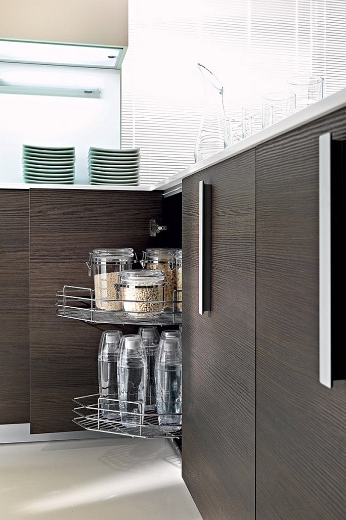 Kitchen island cabinets that can be hidden away with ease